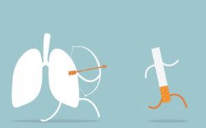 Les poumons et l'esprit libre de toute addiction au tabac